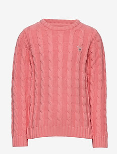 COTTON CABLE CREW - strickmode - strawberry pink