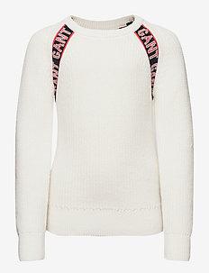 D1. LOGO RAGLAN - sweatshirts - eggshell