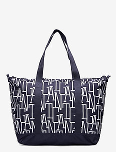 D1. ALLOVER GANT TOTE BAG - casual shoppers - evening blue
