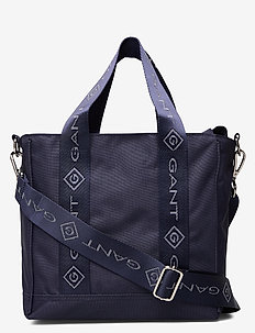 D1. LOCK UP STRIPE MINI TOTE BAG - totes & small bags - evening blue