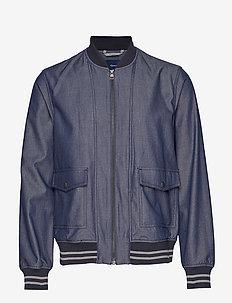 D1. THE CHAMBRAY JACKET - vestes bomber - persian blue