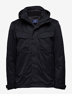 O2. THE TECH DOUBLE JACKET - kurtki-wiosenne - black