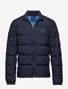 O1. THE PANEL DOWN JACKET - EVENING BLUE