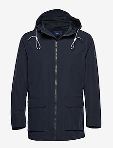 O1. THE HOODED WAVE JACKET - EVENING BLUE