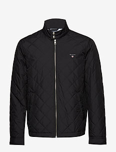 O1. THE QUILTED WINDCHEATER - BLACK