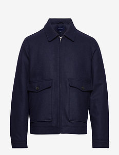 D1. THE WOOL WINDCHEATER - wolljacken - marine