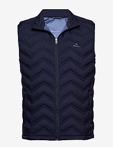 D1. THE LIGHT DOWN GILET - MARINE