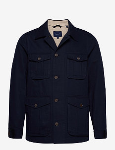 D1. THE CASUAL FIELD JACKET - vindjakker - evening blue