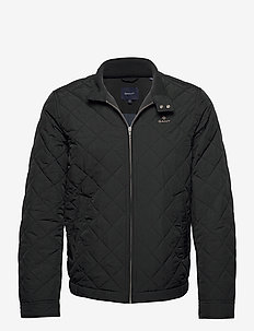 QUILTED WINDCHEATER - quilted jackets - black