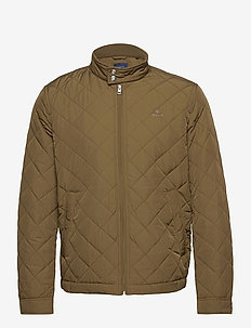 QUILTED WINDCHEATER - quilted jackets - dark cactus