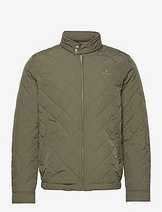 QUILTED WINDCHEATER - quilted jackets - dark leaf