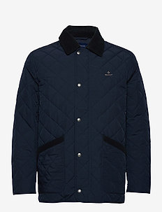 D1. QUILTED BARN JACKET - quilted jackets - evening blue