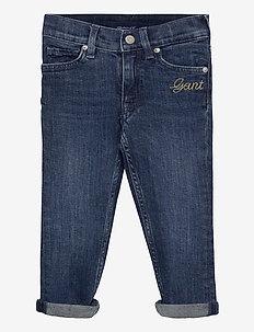 D1. SCRIPT JEANS - jeans - mid blue worn in