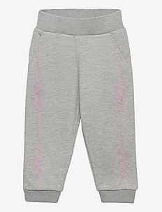 D1. SCRIPT SWEAT PANTS - jogginghosen - light grey melange