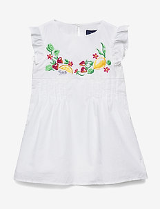 D1. SUMMER EMBROIDERY FRILL DRESS - dresses - white