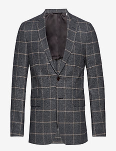 G2. THE WINDOWPANE SPORTS COAT - single breasted blazers - grey melange