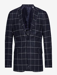 G2. THE WINDOWPANE SPORTS COAT - single breasted blazers - persian blue