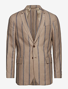 O1. THE IVY STRIPE BLAZER - single breasted blazers - putty