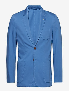O2. THE SUNBLEACHED SPORTS COAT - single breasted blazers - mid blue