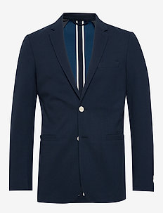 D1. WASHABLE JERSEY PIQUE BLAZER - blazers - evening blue