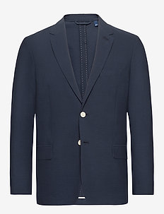 D2. SEERSUCKER BLAZER - single breasted blazers - insignia blue