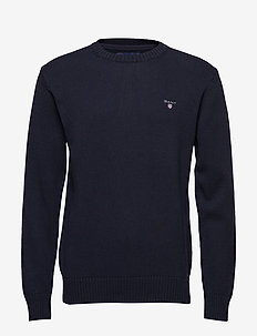 CASUAL COTTON CREW - EVENING BLUE