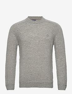 D2. SHETLAND CREW - tricots basiques - grey melange