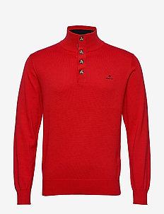 D1. SPORTY MOCKNECK - basic gebreide truien - bright red
