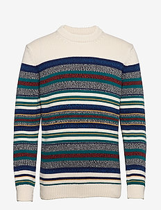 D1. MULTICOLORED MARL. STRIPE CREW - truien met ronde hals - multicolor