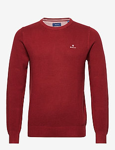 COTTON PIQUE C-NECK - pyöreäaukkoiset - crimson red