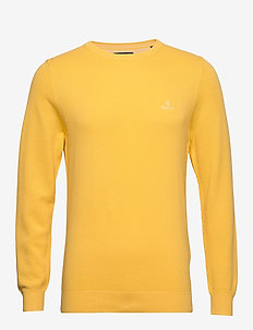 COTTON PIQUE C-NECK - pulls col rond - mimosa yellow