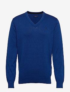 CLASSIC COTTON V-NECK - v-ausschnitt - crisp blue