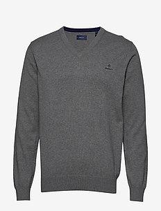 CLASSIC COTTON V-NECK - truien met v-hals - dark grey melange