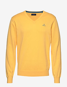 CLASSIC COTTON V-NECK - knitted v-necks - mimosa yellow