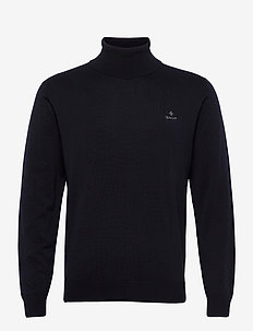 CLASSIC COTTON TURTLE NECK - rullekraver - navy