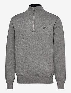 CLASSIC COTTON HALF ZIP - half zip - dark grey melange