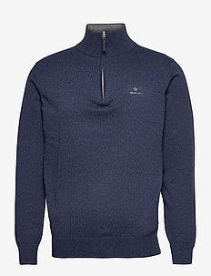 CLASSIC COTTON HALF ZIP - half zip - dark jeansblue melange