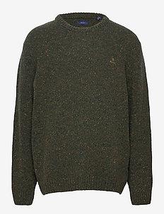 D2. NEPS CREW - knitted round necks - tartan green
