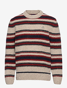 D2. TEXTURE STRIPE NEPS CREW - knitted round necks - multicolor