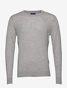 WASHABLE MERINO C-NECK - GREY MELANGE