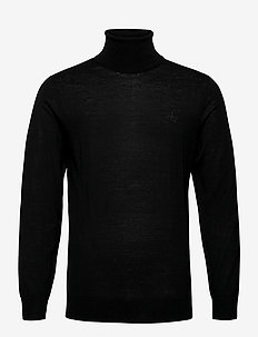 WASHABLE MERINO TURTLENECK - tricots basiques - black