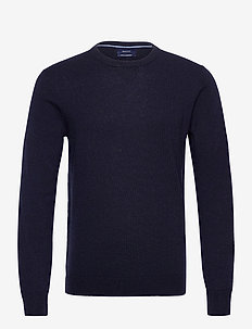 D1. WOOL CASHMERE  C-NECK - basisstrikkeplagg - evening blue