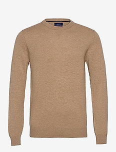 D1. WOOL CASHMERE  C-NECK - basic-strickmode - warm khaki