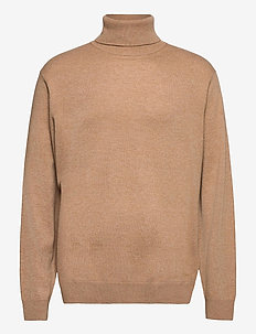 D1. WOOL CASHMERE TURTLENECK - basic-strickmode - warm khaki