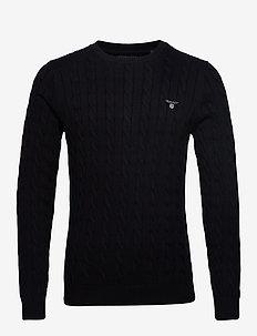 COTTON CABLE CREW - podstawowa odzież z dzianiny - black