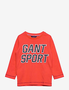 D1. GANT SPORT LS T-SHIRT - long-sleeved t-shirts - atomic orange