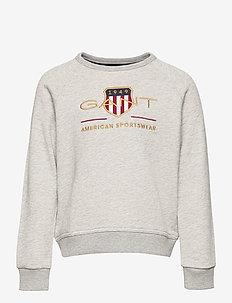 D1. ARCHIVE SHIELD C-NECK SWEAT - sweatshirts - light grey melange