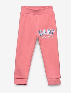 D1. GANT LOGO SWEAT PANTS - joggings - strawberry pink