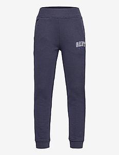 D1. GANT VARSITY SWEAT PANTS - sweatpants - evening blue