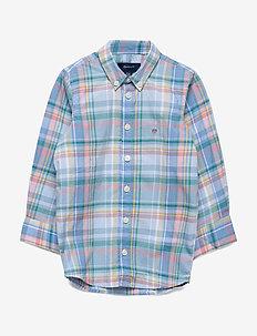 D1. PREPPY MADRAS SHIRT - shirts - capri blue
